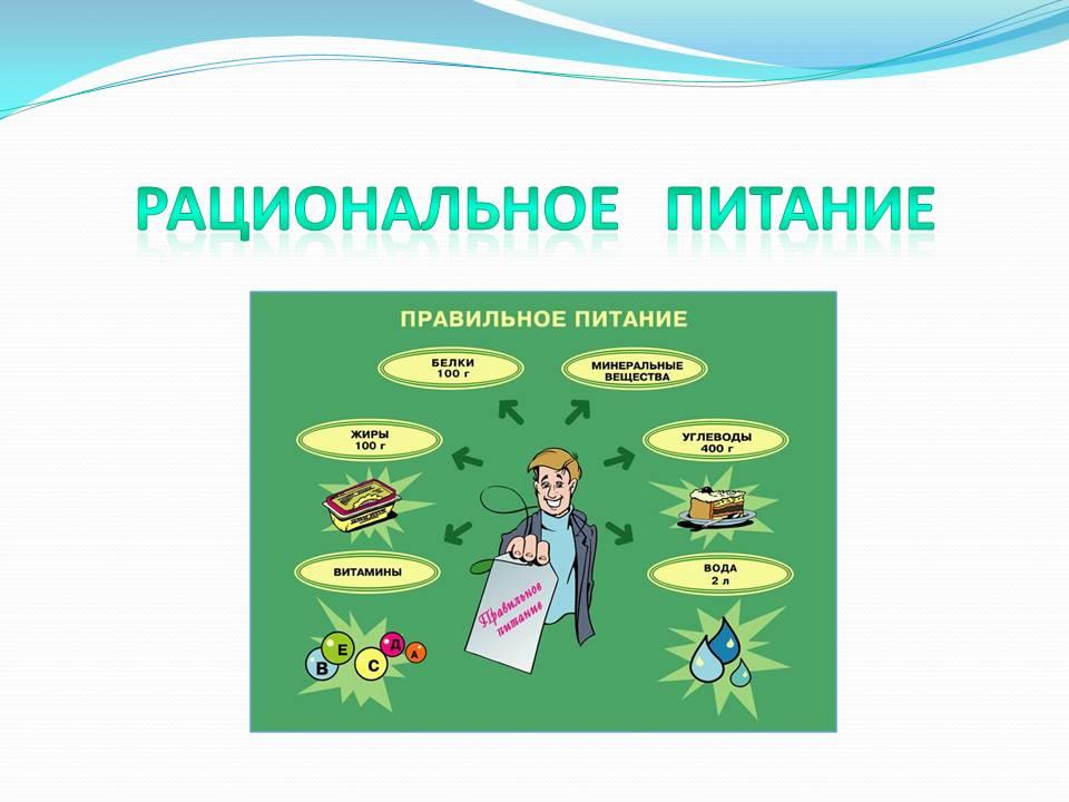 Рациональное питание Презентации по биологии Слайд 1