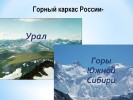 Горный каркас России – Урал и горы Южной Сибири