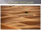 Жаркие пустыни