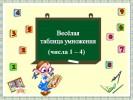 Весёлая таблица умножения (числа 1 – 4)