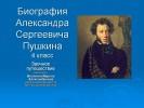 Биография Александра Сергеевича Пушкина